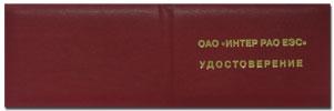 Удостоверение чтобы РАО ЕЭС